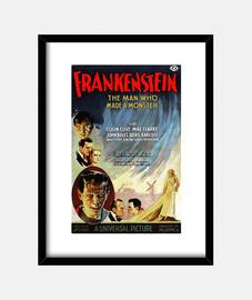 Cuadro con Cartel de la Película Frankenstein de 1931