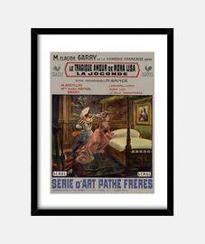 Cuadro con Cartel Retro de Película Amour Tragique de Mona Lisa 1912
