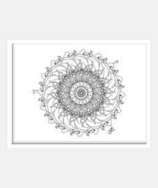 Cuadro con marco blanco horizontal 4:3 (20 x 15 cm)