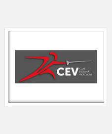 Cuadro con marco blanco horizontal Esgrima Vicalvaro