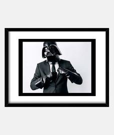 Cuadro con marco horizontal 4:3 (40 x 30 cm). Darth Vader