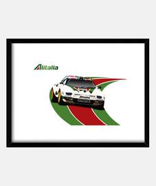 Cuadro con marco horizontal 4:3 (40 x 30 cm) Lancia Stratos