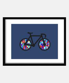 Cuadro con marco horizontal Bicicleta