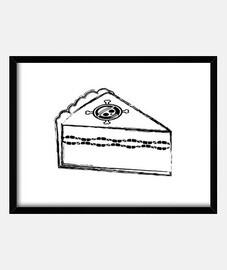 Cuadro con marco negro horizontal 4:3 (20 x 15 cm)