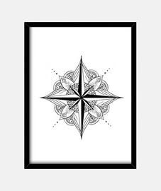 Cuadro con marco negro vertical 3:4 (15 x 20 cm)
