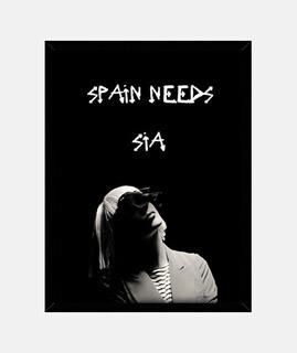 Cuadro con marco negro vertical | SpainNeedsSia
