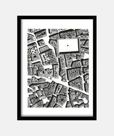 Cuadro con marco vertical 3:4 (30 x 40 cm)