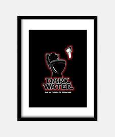 Cuadro con marco vertical 3:4 (30 x 40 cm). Darth Vader