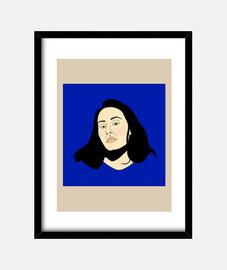 Cuadro con marco vertical 3:4 (30 x 40 cm), Self-confidence