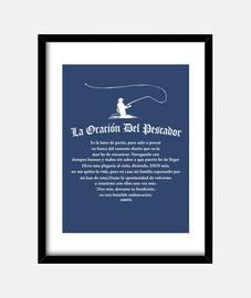 Cuadro con marco vertical 3:4 (30 x 40 cm)para amantes de la pesca