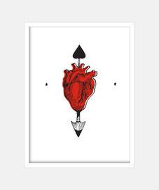 Cuadro Corazón Flechado