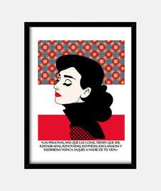 Cuadro de Audrey Hepburn con marco vertical 3:4 (30 x 40 cm)