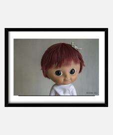 Cuadro de muñeca Mui chan con peluca bob
