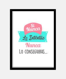 Cuadro Frase Motivacional marco vertical 3:4 (30 x 40 cm)