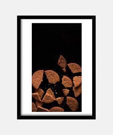 Cuadro galletas con marco negro vertical 3:4 (15 x 20 cm)