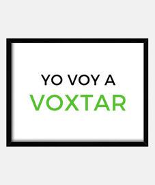 Cuadro horizontal enmarcado con vidrio Voxtar