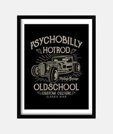 Cuadro HotRod Psychobilly 1950s Retro