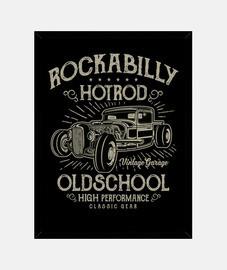 Cuadro Hotrod Rockabilly Music Vintage Rockers USA