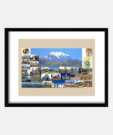 Cuadro La Paz con marco horizontal 4:3 (40 x 30 cm)