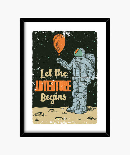 Cuadro Let the Adventure Begins - ARTMISETAS ART CAMISETAS