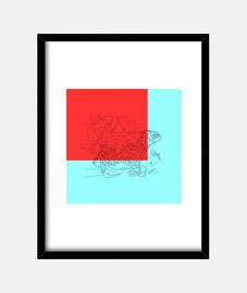 Cuadro marco vertical 30 x 40 cm, Perseguido