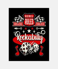 Cuadro Música Rock Retro Rockabilly Rock and Roll Rockers Vintage 1950s 60s 70