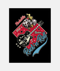 Cuadro Música Rockabilly Vintage Rock and Roll USA Rockers Retro 1950s