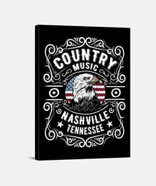 Cuadro Nashville Tennessee Country Music Eagle USA