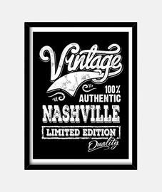Cuadro Nashville Tennessee Country Music Retro Rockabilly Vintage USA