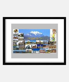 Cuadro Oh linda La Paz  con marco horizontal 4:3 (40 x 30 cm)