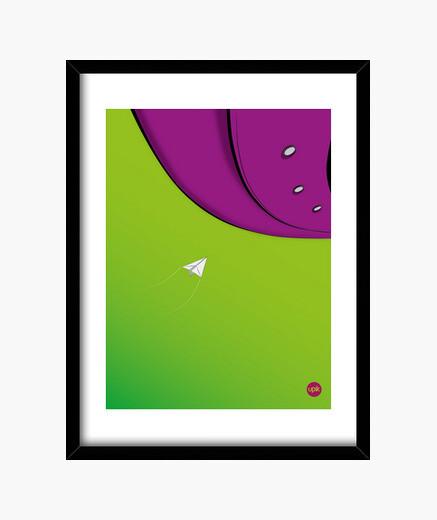Cuadro Poster Lime Sky. Elige de qué tamaño lo quieres