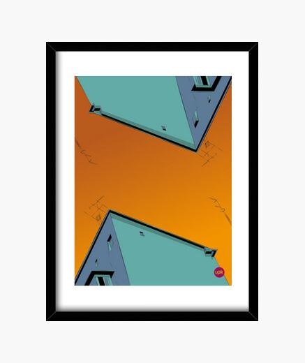 Cuadro Poster Orange Sky. Elige de qué...