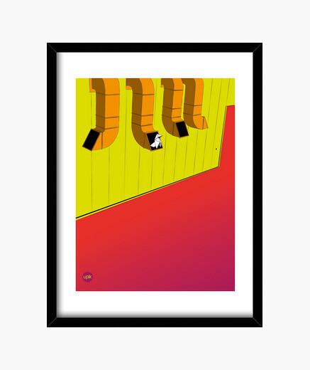 Cuadro Poster Scarlet Sky. Elige de qué tamaño lo quieres