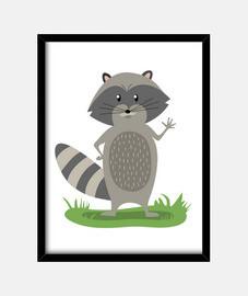 Cuadro Raccoon (30 x 40 cm)