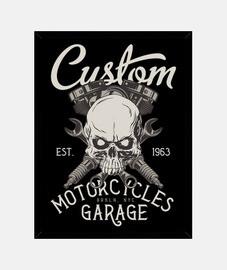 Cuadro Retro Custom Garage Bikers 1963 Vintage Motorcycles