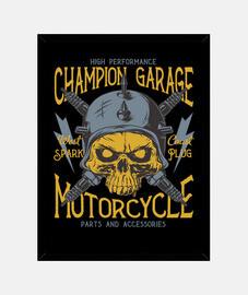 Cuadro Retro Garage Bikers Motorcycle Garage