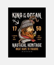 Cuadro Retro Marineros Vintage King Of The Ocean