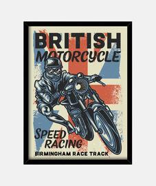 Cuadro Retro Motos British Motorcycle Vintage Biker