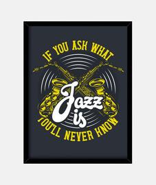Cuadro Retro Música Jazz Saxofón Musicales Vintage Músicos