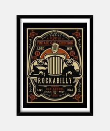 Cuadro Rockabilly 1980 Retro Hotrod