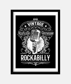 Cuadro Rockabilly Music Nashville Tennessee Vintage Retro Rock N Roll Rockers USA