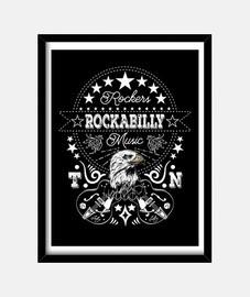 Cuadro Rockabilly Retro Rock and Roll Rockers 1950s 60s 70s