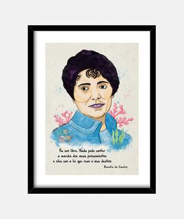 Cuadro Rosalía de Castro, Mónica Jiménez Art