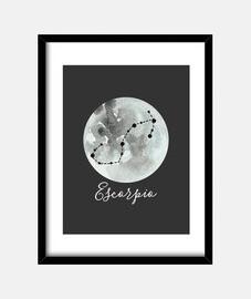Cuadro signo zodiacal Escorpio horóscopo