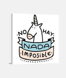 Cuadro Unicornio Nada Es Imposible