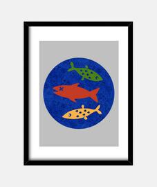Cuadro vertical Peces fish