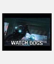 Cuadro Watch Dogs (marco horizontal 40x30 cm)