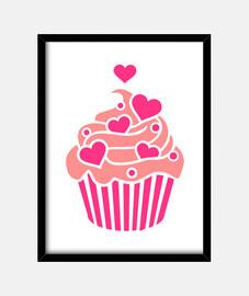 Cupcake hearts