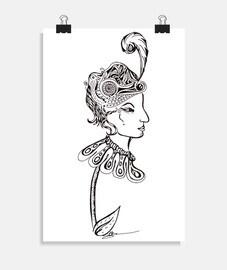 Dame fleur poster