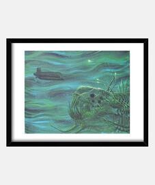 dans la mer profonde